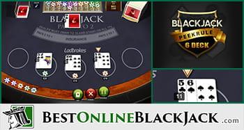 Blackjack Dealer Peek